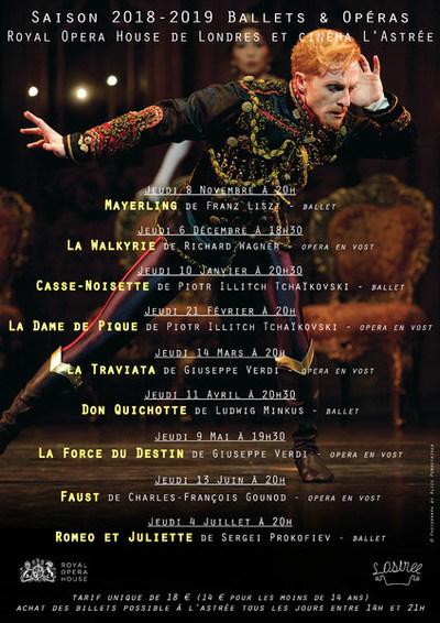 Opéras et ballets à l'Astrée